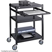 Safco Steel Projector Cart, 27w x 18d x 36h, Black