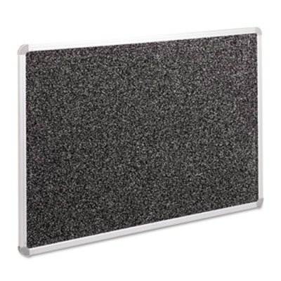 BALTamp;reg; Recycled Rubber-Tak Tackboard, 36 x 24, Black with Aluminum Frame ()