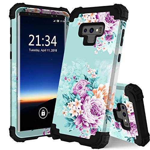 for Galaxy Note 9 case,PIXIU Unique Pattern Heavy Duty Shockproof 3 in 1 hybird Rubber stury Full-Body Protective case Cover for Samsung Galaxy Note 9 2018 Released ()