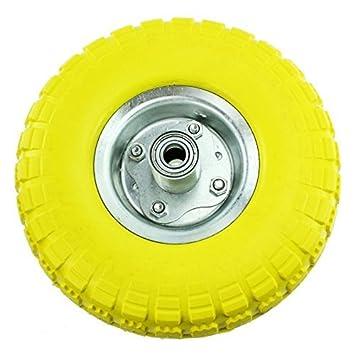 """First4Spares – 10 """"caucho sólido carretilla neumáticos y eje de rodamientos para carrito/"""