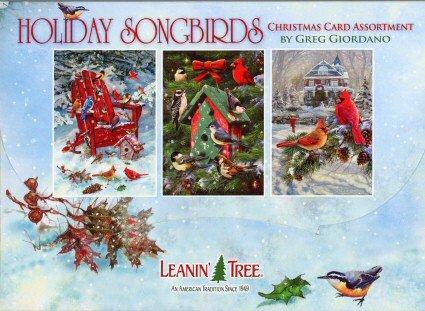 Leanin Tree Christmas Cards.Greg Giordano Holiday Songbirds 20 Christmas Card Assortment 90280 Retired