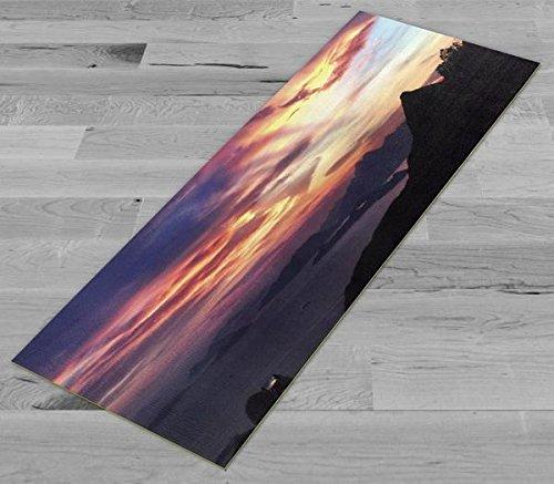 Pimp Myヨガマット – ビクトリア – Peak sunset – 元アートワーク72 x 24 inヨガマット/ピラティスマット、1 / 8 in厚   B06Y4D2FZ2