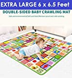 Zofey Baby Mat Waterproof Extra Large Size for Safety (Assorted Design) 6 Feet X 6.5 Feet