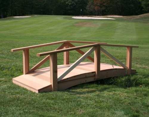 Creekvine Designs Pearl River 4-ft. Cedar Garden Bridge