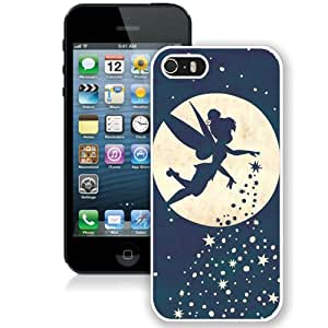 High Quality iPhone 5 5S Case ,Forever Young Tinkerbell White iPhone 5 5S Cover Unique And Fashion Designed Phone Case