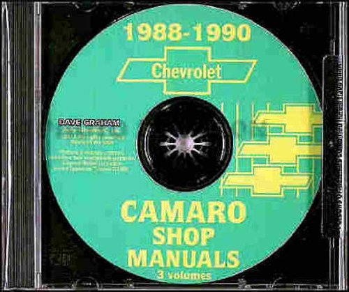 1988 1989 1990 CHEVROLET CAMARO 3 VOL. FACTORY REPAIR SHOP & SERVICE MANUAL INCLUDES: Standard Camaro, Coupe, RS, Convertible, and IROC-Z