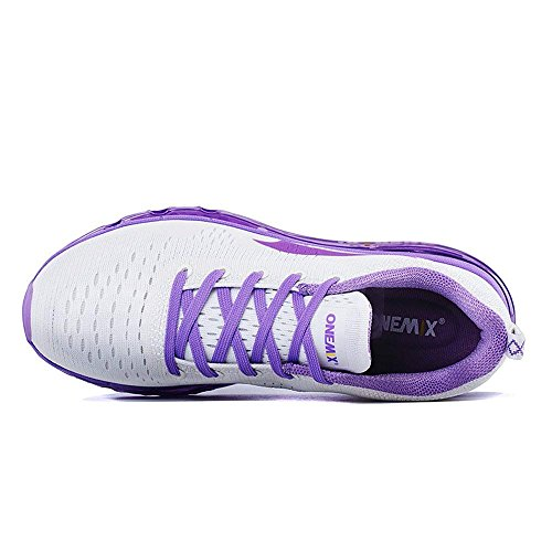 Lila Turnschuhe Walking onemix Athletisch Air Leichte Luftpolster Sneaker für mit Schuhe Laufschuhe Lavendel Schuhe Frauen Max Sportschuhe Damen wwTSfqO