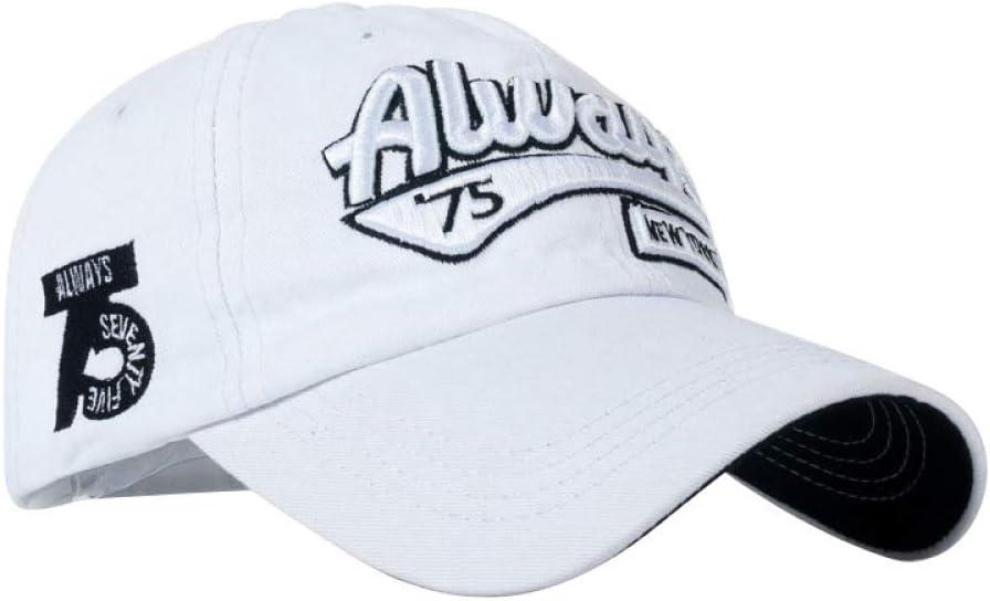 zhuzhuwen Sombrero de Beisbol algodón Bordado Letra 5 ...