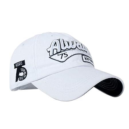 zhuzhuwen Sombrero de Beisbol algodón Bordado Letra 5 Ajustable ...