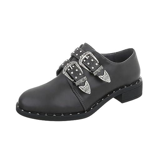 Zapatos para mujer Mocasines Tacón ancho Slip-on Gris Tamaño 41: Amazon.es: Zapatos y complementos