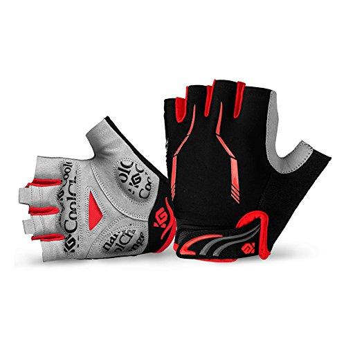 Cool Change Cycling Gloves Mountain Bike Gloves SBR Pad Shockproof | Anti- Slip | Breathable Biking Gloves Sports Half Finger Bicycle Gloves for Men Women