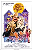 1982 THE BEST LITTLE WHOREHOUSE IN TEXAS movie poster DOLLY PARTON 24X36 sexy (reproduction, not an original)