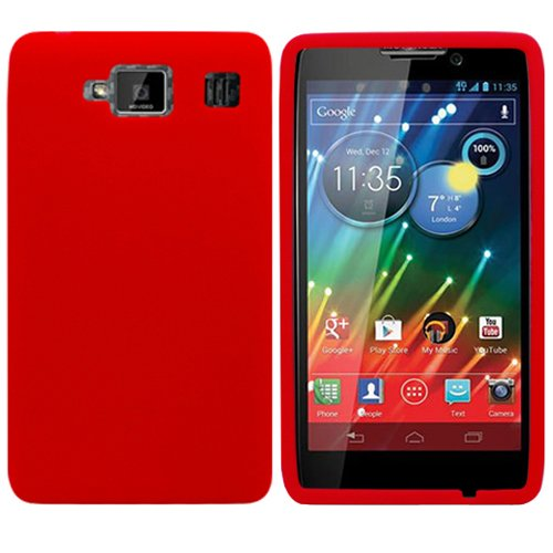 Red Silicon Soft Rubber Skin Case Cover For - Cell Phone Covers Razor Max