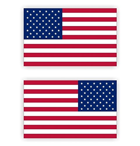 2 Pcs Lavish Unique American Flag Window Sticker Mac Apple Macbook Laptop Luggage Hoverboard Wall Graphics Decor Decals Vinyl Art Stickers Decal Patches Size 3-1/2