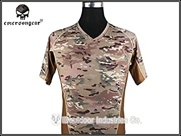bd790dc7789b9 Image Unavailable. Image not available for. Colour: M : EMERSON Skin Tight  Base Layer Camo Running Shirts Breathable ...