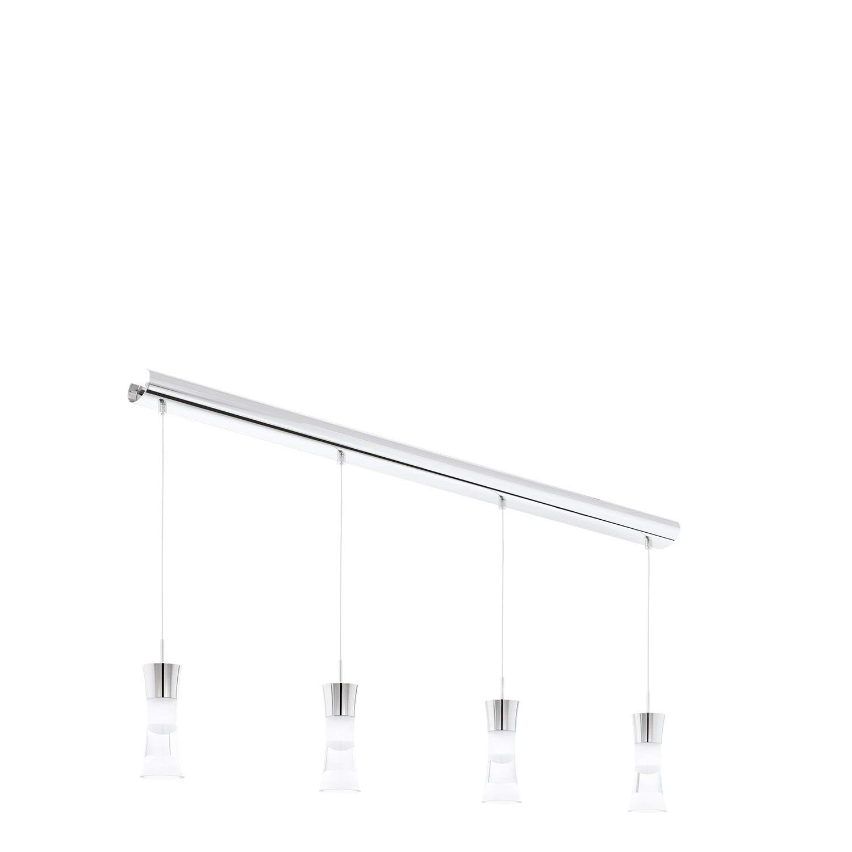 EGLO 94358 A+, Hängeleuchte, Stahl, Integriert, Chrom  Transparent, 103 x 7 x 110 cm