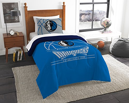 (The Northwest Company Officially Licensed NBA Dallas Mavericks Reverse Slam Full/Queen Comforter and 2 Sham Set)