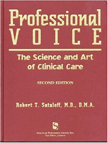 Professional Voice: The Science and Art of Clinical Care