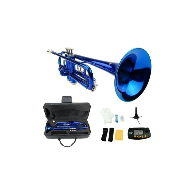 Merano B Flat BLUE / Silver Trumpet with