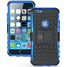 iPhone 6 Case, iPhone 6S Case by Cable and Case [HEAVY DUTY] Cases [iPhone6 6S - 4.7] Tough Dual Layer 2 in 1 Rugged Rubber Hybrid Hard/Soft Protective Cover [With Kickstand] . - Blue Armor Case