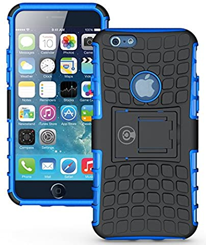 iPhone 6S Case, iPhone 6 Case by Cable and Case - [HEAVY DUTY] Tough Dual Layer 2 in 1 Rugged Rubber Hybrid Hard/Soft Impact Protective Cover [With Kickstand] Shipped from the U.S.A. - (Rubber Iphone 5s Cases Disney)