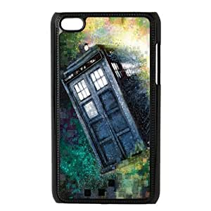 Custom Police Call Box Tardis Design Durable Cover Case For iPod Touch 4th Generation