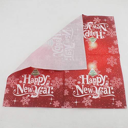 BESTOYARD Happy New Year Printed Napkin Wood Pulp Colorful Party Napkin Restaurant Decoration 100pcs by BESTOYARD (Image #7)