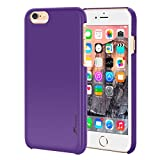iPhone 6s Plus Case, Apple iPhone 6s Plus, rooCASE Ultra Slim Fit Thin Lightweight Shell Case [Median] Protective Pefect Fit Non Slip Soft Matte Cover for Apple iPhone 6 Plus , Purple