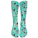 Swimming Mermaids Outdoor Athletic Running Long Socks Novelty Calf High Sock Unisex