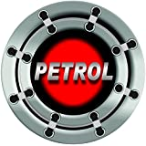 Rider Sticker/Decals/Fuel Badge/Graphics for Universal car Petrol (RED Petrol)