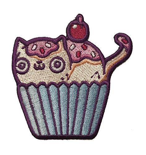 """Randy Otter """"Cat Cupcake"""" Cute Kitty Who is Also a Cake Iron On Patch"""