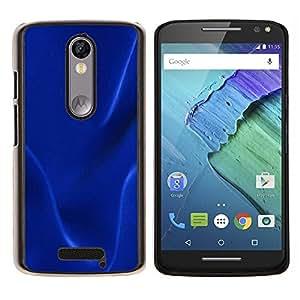EJOOY---Cubierta de la caja de protección para la piel dura ** Motorola Moto X3 3rd Generation ** --Textura oscura azul