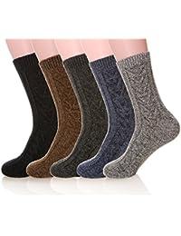 Mens 5 Pair Pack Knitting Warm Wool Casual Winter Socks