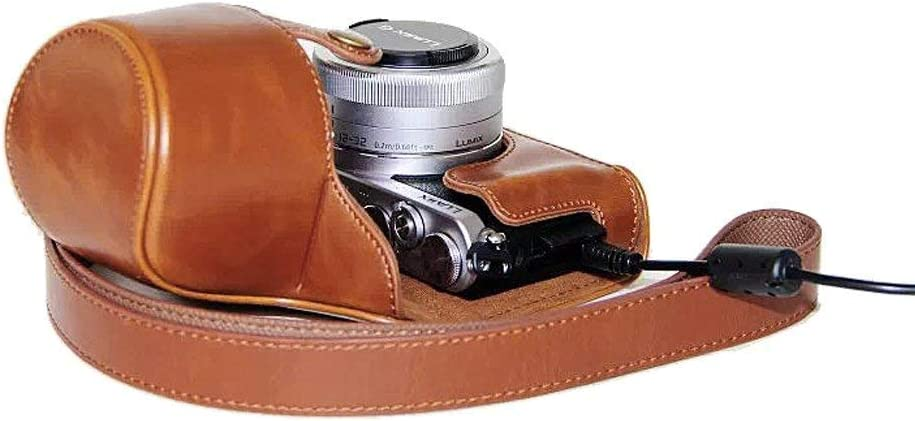 Xidan FL1 Protective Fitted Leather Camera Case Bag for For Panasonic LUMIX DMC-GM1 with 12-32mm Lens