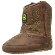 John Deere Baby BAB Drk Chestnut PO Pull-on Boot, Brown, 3 Medium US Infant