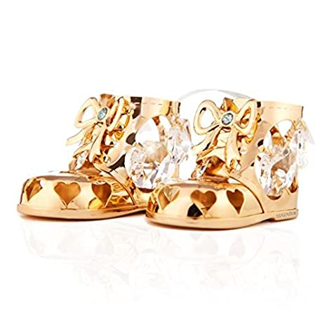 Amazon.com: Crystal Studded Baby Booties Ornamento por ...