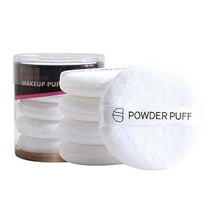 Fashion888 Makeup Air Cushion,5Pcs Professional Makeup Puff,Round Cotton Powder Puff for Applying Powder,Foundation Make Up Tool