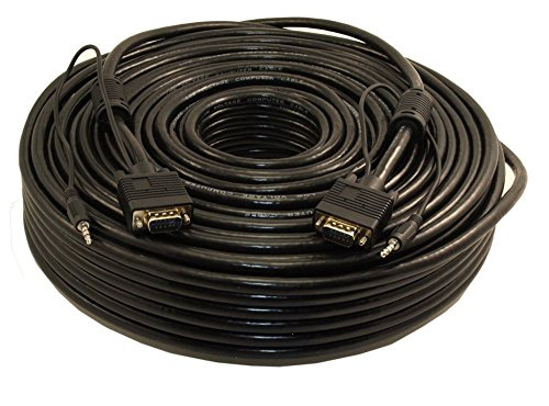 MyCableMart 200ft Premium Tri-Shield VGA & 3.5mm Stereo TRS Male to Male Combo Cable by My Cable Mart