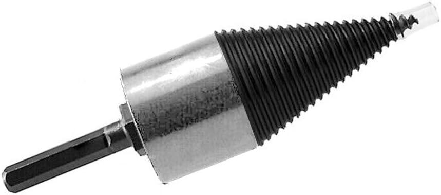 Brennholzbohrer 32mm Hex Shank 6 Gr/ö/ßen Hochgeschwindigkeits-Twist-Brennholzbohrer Holzspalter-Schraubenspaltbohrer Kegelantriebsbohrer
