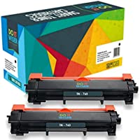 Do it Wiser No Chip Compatible Toner Cartridges Replacement for Brother TN760 for Brother MFC-l2710DW HL-L2370DW (Black, 2 Pack)
