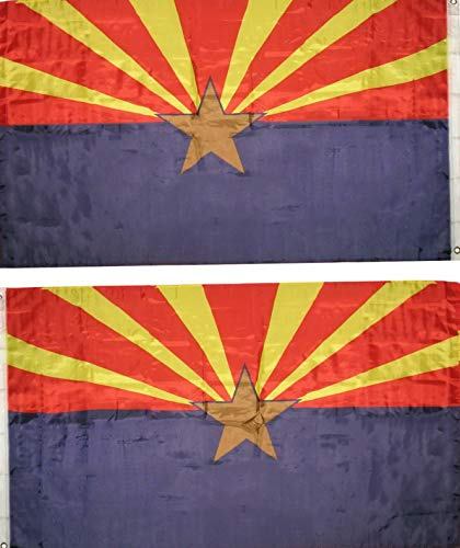 Hebel 3x5 State of Arizona Flag 3x5 House Banner Grommets Polyester Fade Resistant | Model FLG - -