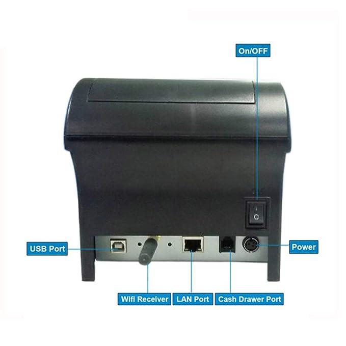 Heaviesk POS-8220 Impresora Térmica Portátil WiFi POS inalámbrica ...