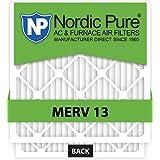 Nordic Pure 20x25x5 Lennox X6675 Replacement MERV 13 Furnace Air Filter, Quantity 4