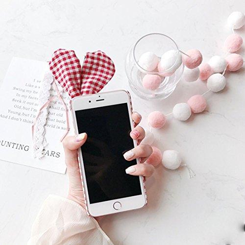 Phone case & Hülle Für iPhone 6 Plus / 6s Plus, Kaninchen Ohren Grid Pattern PC Schutzhülle