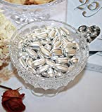 Dipped Silver Jordan Almonds Dragées -1 LB Box