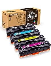 STAROVER 4x 205A (CF530A CF531A CF532A CF533A) Compatibile Colori Toner Sostituzione Per HP Color Laserjet M154A M154NW M180 180N M181 M181FW (1 Nero + 1 Ciano + 1 Magenta + 1 Giallo)