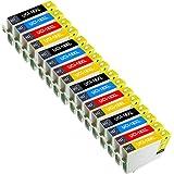 UCI 16x Epson 18XL Cartouches d'encre compatible avec Epson Expression Home XP-102, XP-202, XP-205, XP-212, XP-215, XP-225, XP-30, XP-33, XP-302, XP-305, XP-312, XP-315, XP-322, XP-325, XP-402, XP-405, XP-405WH, XP-412, XP-415, XP-422, XP-425