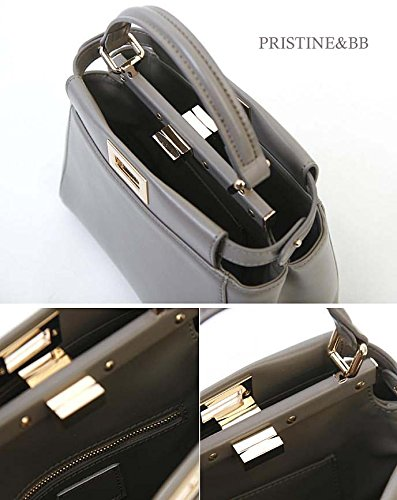 Crossbody Satchel handle Bag Italian 916 Finest fashion Cow Grey top Golden Women's Shoulder Lovely Skin Tote YpqTqwxAC