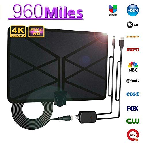 Tenrry 960 Mile Range Antenna TV Digital 4K HD Digital Indoor HDTV 1080P Skywire Antena