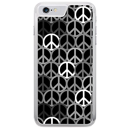 Inspired Peace Sign - Image Of Sixties and Seventies Inspired Peace Signs Apple iPhone 7 Clear Phone Case